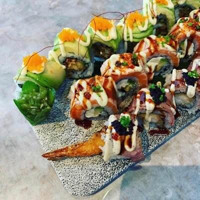 Asia Porselein sushi borden