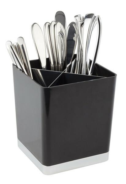 tafelbakje kunststof 14 x 14 x 16(h) cm zwart