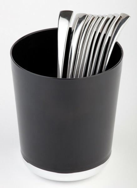 tafelbakje Base Chroom kunststof Ø 13 cm x 15(h) cm zwart