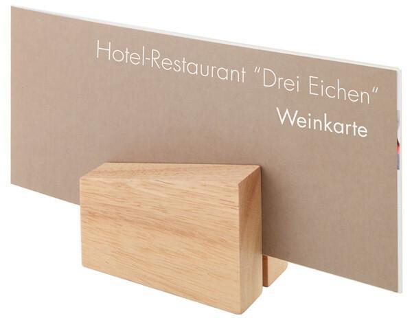 menukaarthouder hout 8,5 x 6 x 8,5(h) cm DOOS 2