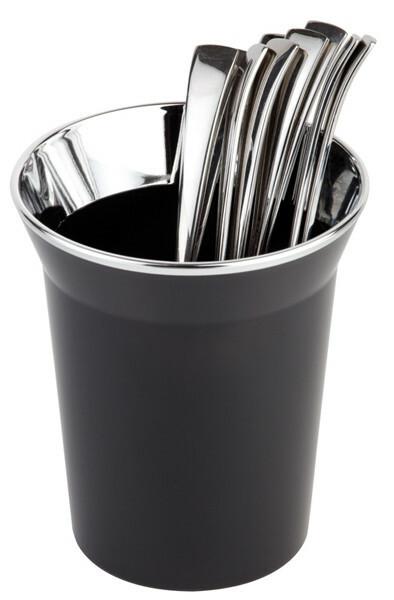 tafelbakje Top Chroom kunststof Ø 13 cm x 15(h) cm zwart