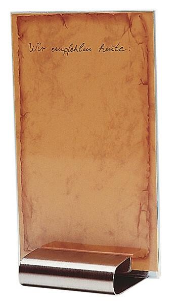 menukaarthouder edelstaal 8 x 7 x 2(h) cm