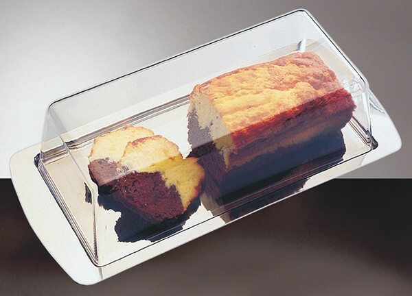 cake plateau met cover 34 x 16.5 cm