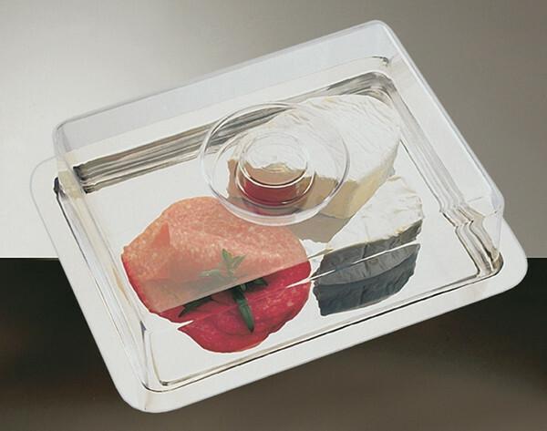 cake plateau met cover 25 x 19 cm