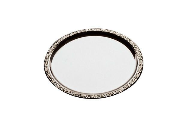 serveerschaal edelstaal rond 31 cm decor rand