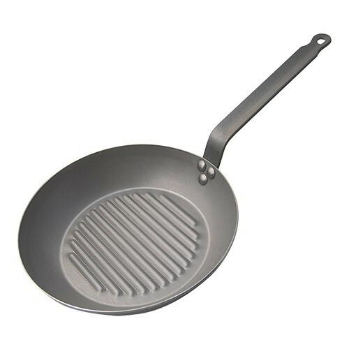 De Buyer grillpan plaatstaal Ø 30 cm