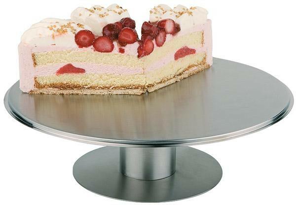 taart plateau edelstaal 30,5 cm draaibaar