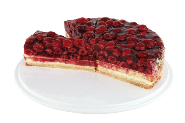 taart plateau melamine 31 cm wit