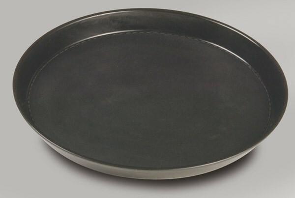 ovaal dienblad polyester 28 x 20 cm anti slip zwart