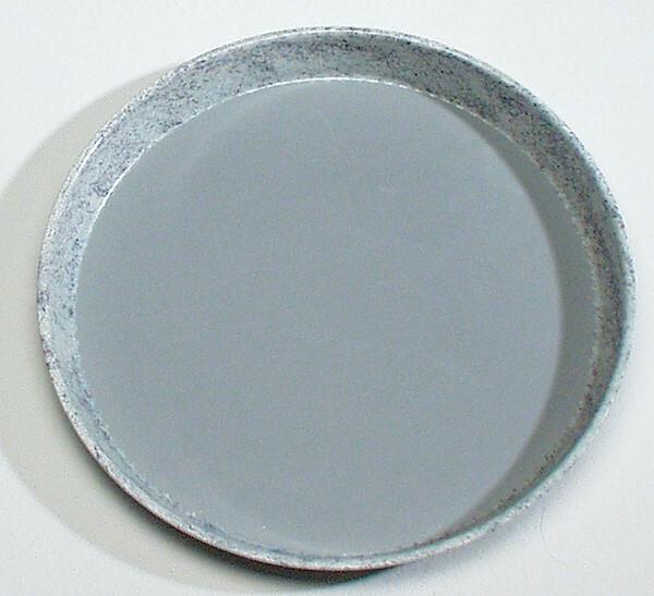 ovaal dienblad polyester 28 x 20 cm anti slip grijs