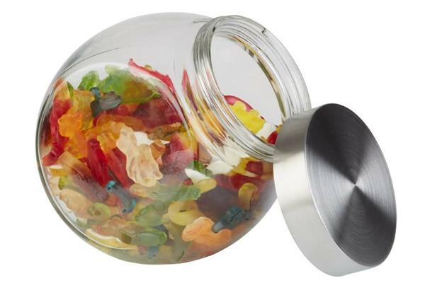 APS voorraadpot glas met deksel 12,5 x 19 x 18(h) cm 1 Ltr