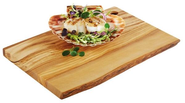 plank rechthoek olijfhout 25 x 17 x 1,5(h) cm