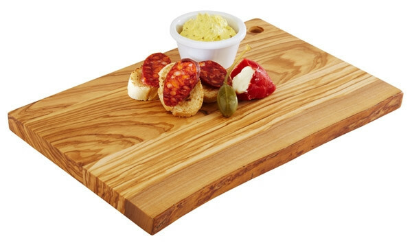 plank rechthoek olijfhout 30 x 20,5 x 2(h) cm