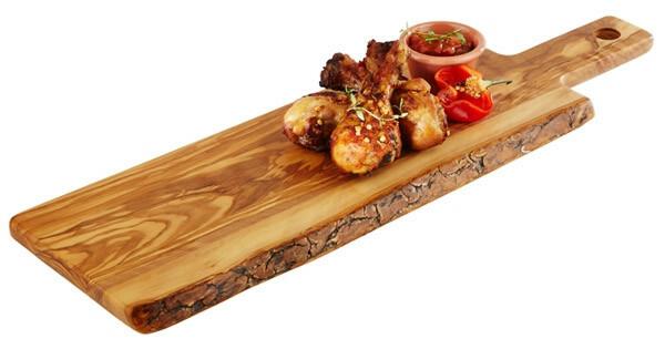 plank met handvat olijfhout 40 x 15 x 1,5(h) cm