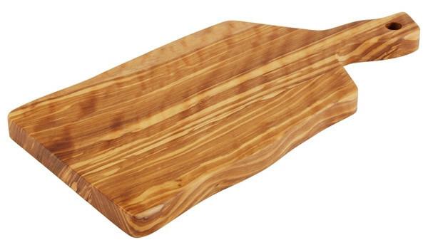 plank met handvat olijfhout 19 x 12,5 x 1,5(h) cm