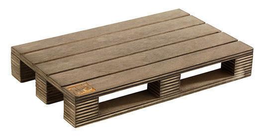 pallet presenteerplank donker hout 20 x 12 x 3(h) cm
