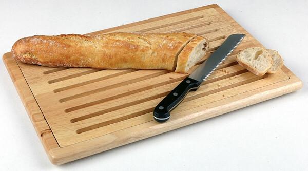 broodplank rubberwood 2 delig 47,5 x 32 cm