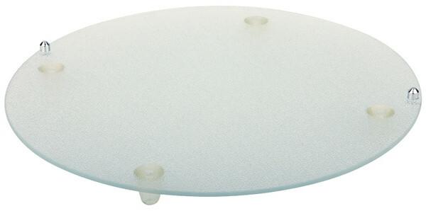 buffet glasplaat rond 38 cm met voetjes