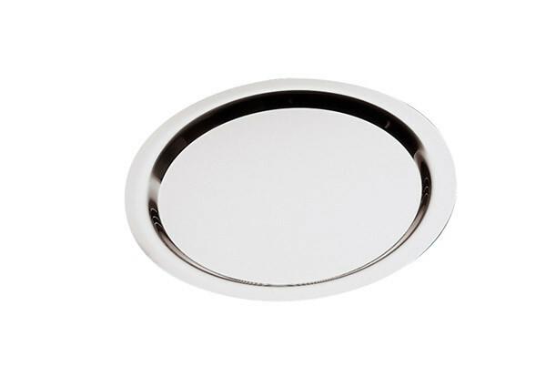 serveerschaal edelstaal rond 48 cm gladde rand