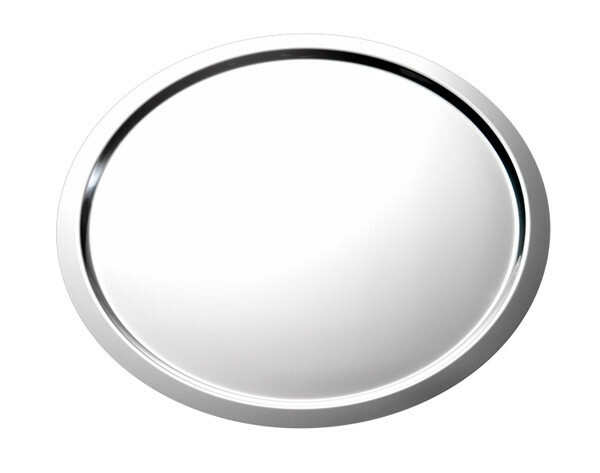 serveerschaal edelstaal rond 49,5 cm gladde rand