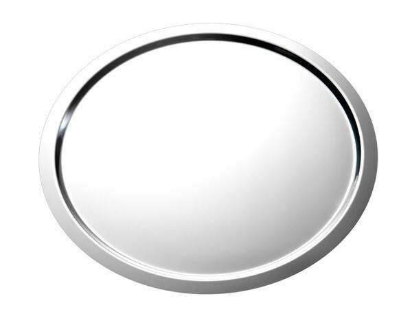 serveerschaal edelstaal rond 58 cm gladde rand