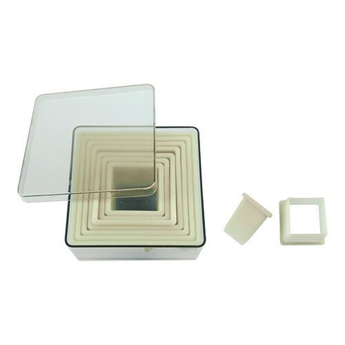stekerdoos kunststof vierkant 3 - 10 cm glad
