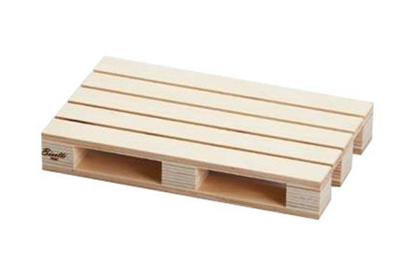 Bisetti pallet presenteerplank licht hout 20 x 12 x 3(h) cm