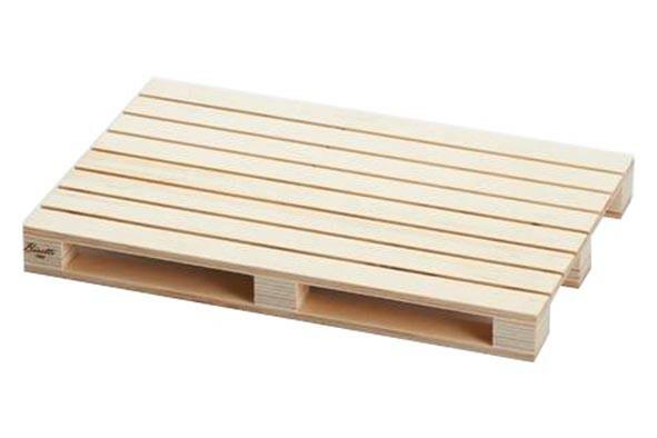Bisetti pallet presenteerplank licht hout 30 x 20 x 3(h) cm