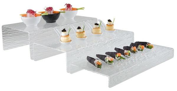 buffet display kunststof 40 x 18 x 4 cm