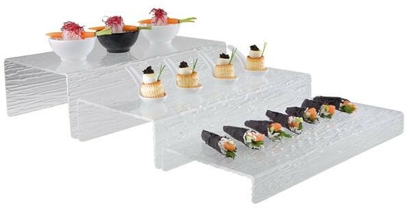 buffet display kunststof 40 x 20 x 8 cm