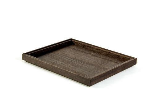 Black 1/2 GN box low stackable 32,5 x 26,5 x 2(h) cm