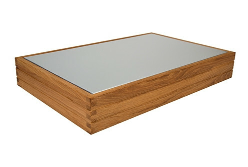 Oak linoil frame for cooling tray 1/1 GN 56 x 35,5 x 9(h) cm