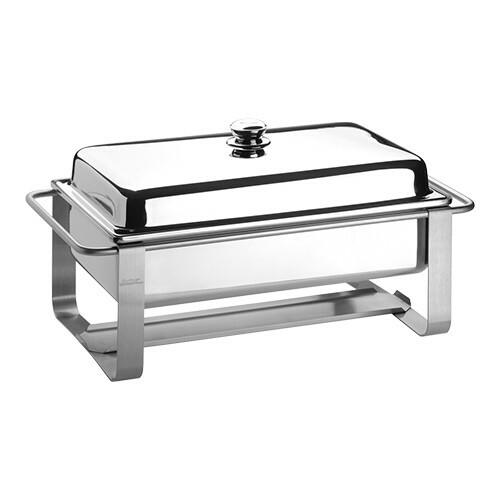 Spring chafing dish 18/10 * voedselpan 1/1 GN 65 mm