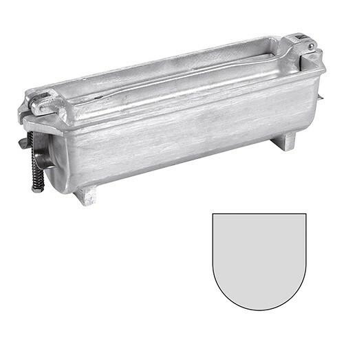 paté terrinevorm U vorm gegoten aluminium 25(l) x 8(b) x 8(h) cm