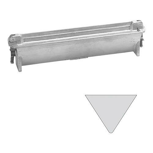 paté terrinevorm driehoek gegoten aluminium 40(l) x 7,5(b) x 8,5(h) cm