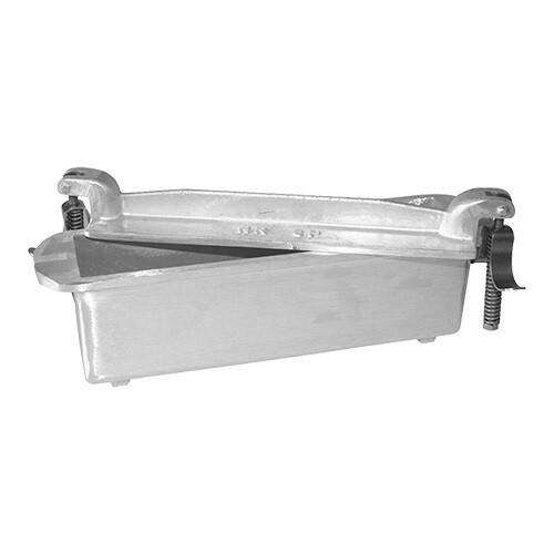 paté terrinevorm vierkant gegoten aluminium 24(l) x 7,5(b) x 5,5(h) cm