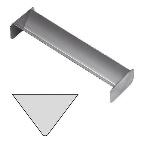 paté terrinevorm driehoek RVS 4(h) x 30(b) x 6(d) cm