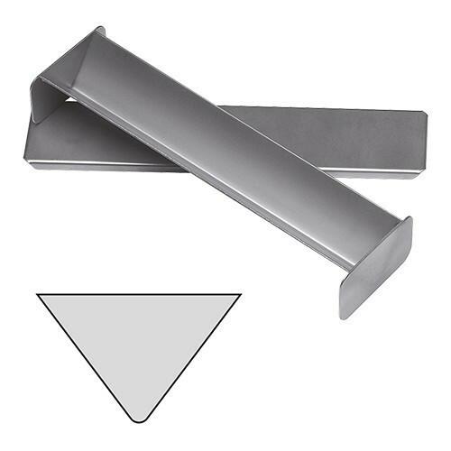 paté terrinevorm met deksel driehoek RVS 4(h) x 30(b) x 6(d) cm