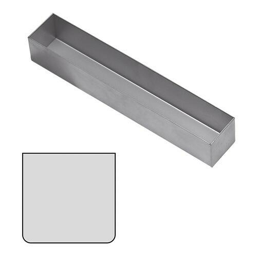 paté terrinevorm vierkant RVS 5(h) x 30(b) x 5(d) cm