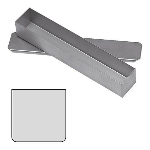 paté terrinevorm met deksel vierkant RVS 5(h) x 30(b) x 5(d) cm
