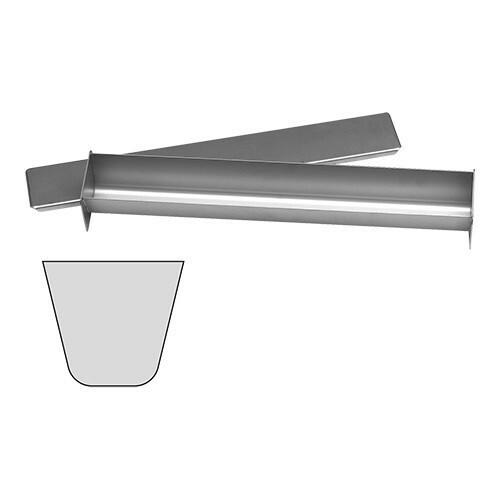 paté terrinevorm met deksel U vorm RVS 6(h) x 45(b) x 6(d) cm