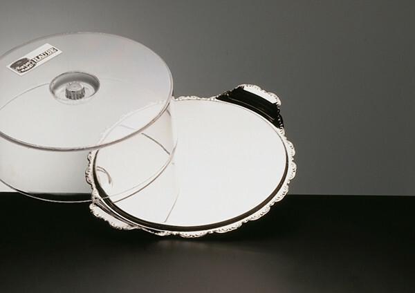 taart plateau barock met cover 32 cm