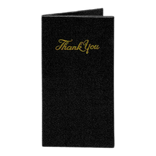 "rekeningmapje ""Thank You"" zwart 14 x 27 cm"