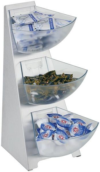 buffet dispenser Multi rack 4 delig 3 bakjes 1 Ltr