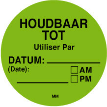 Daymark HACCP verwijderbare stickers rond 38 mm