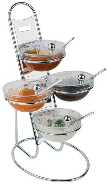 buffet etagere Little set compleet met schalen 14 cm met klapdeksel
