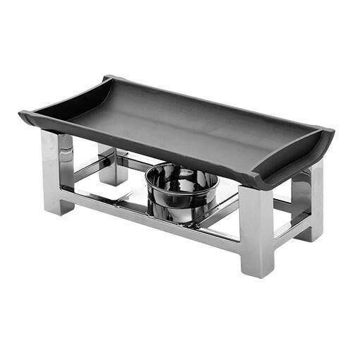 rechaud 30 x 15 cm aluminium bovenplaat zwart