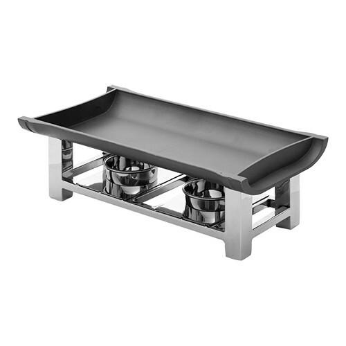 rechaud 38 x 19 cm aluminium bovenplaat zwart