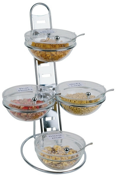 buffet etagere Big set compleet met schalen 23 cm met klapdeksel