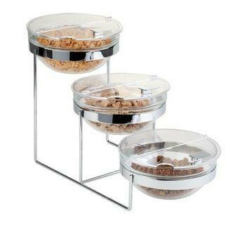 buffet stand bowl glas 23 cm, 3 x 1,5 Ltr